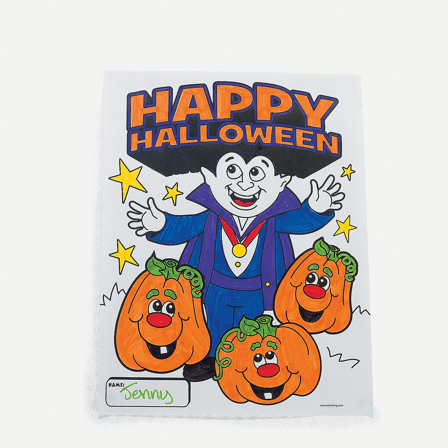 Halloween Coloring Contest Sheets Oriental Trading