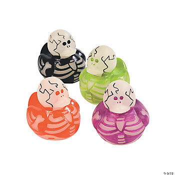 Glow-In-The-Dark Skeleton Rubber Duckies