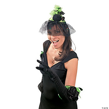 Halloween Spider Hat & Long Gloves Set
