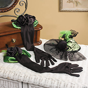 Halloween Spider Hat & Long Gloves