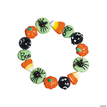Halloween Beaded Bracelet