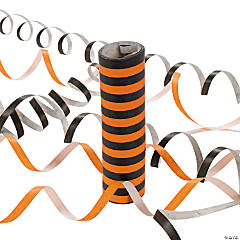 Orange & Black Serpentine Throw Rolls