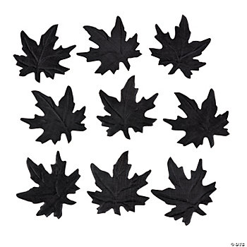 Black Maple Leaf Confetti