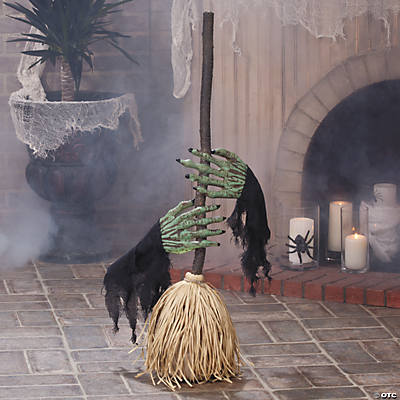 Dancing Broom with Witch Hands