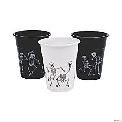 Skeleton Print Disposable Plastic Cups