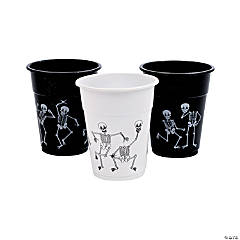 Halloween Skeleton Print Disposable Plastic Cups