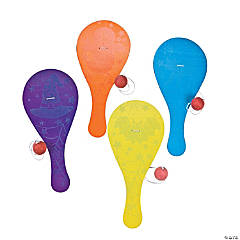 Glow-in-the-Dark Halloween Paddleball Games