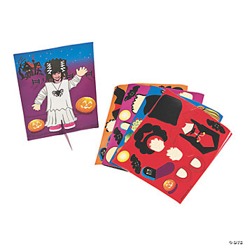 Halloween Girl Costumes Make-A-Sticker Scenes