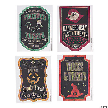 Halloween Candy Bag Treat Labels