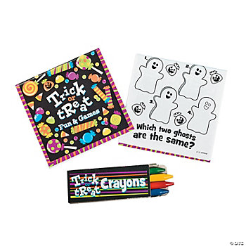 """Trick Or Treat"" Activity Book With Crayons"