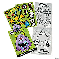 Monster Activity Books With Stickers