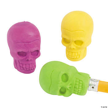 Skull Pencil Top Erasers