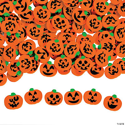 Pumpkin & Jack-O'-Lantern Mini Eraser Assortment