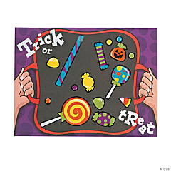 Trick-or-Treat Candy Sticker Scenes