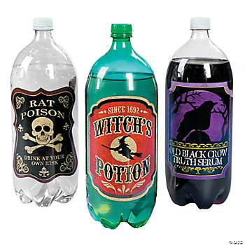 Witches Brew 2-Liter Drink Bottles Labels