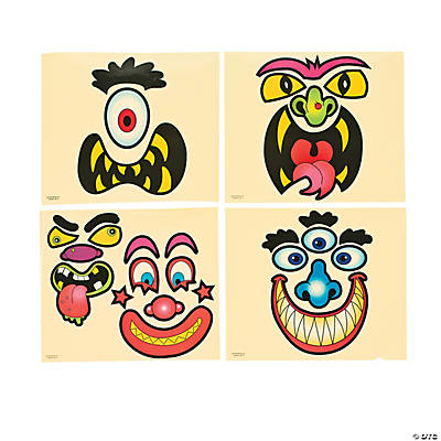 Jack-O'-Lantern Scary Face Stickers