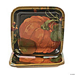 Fall Harvest Square Dessert Plates