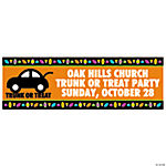 Personalized Medium Trunk-Or-Treat Banner