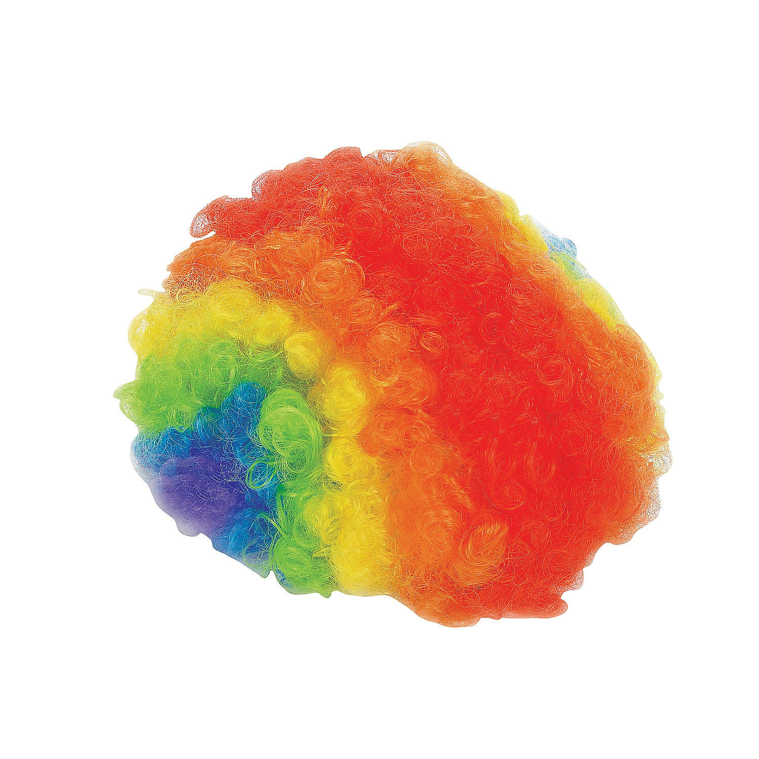 Christmas decor clipart - Adult S Rainbow Clown Wig