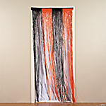 Orange and Black Fringe Door Curtain