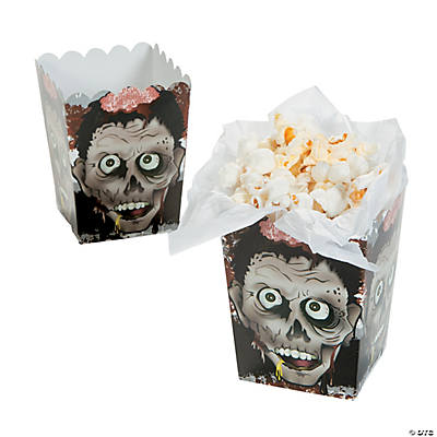Mini Zombie Head Popcorn Boxes
