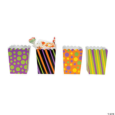 Trick Or Treat Mini Popcorn Boxes