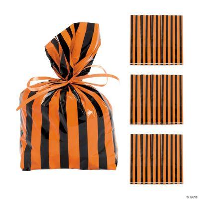 Black & Orange Striped Bags