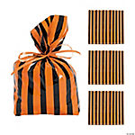 Black & Orange Striped Bags