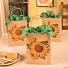 Sunflower Kraft Paper Bags