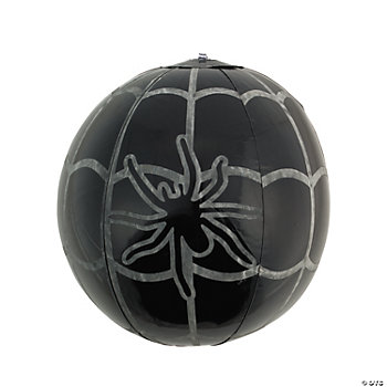 Inflatable Glow-In-The-Dark Spiderweb Beach Balls