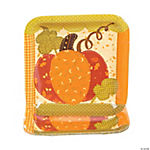 Fall Patchwork Square Dinner Plates
