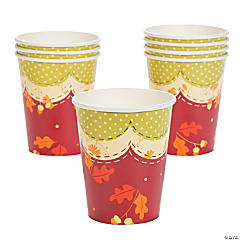Fall Patchwork Cups