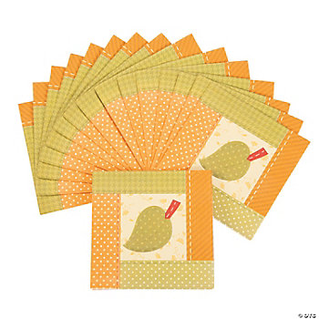 Fall Patchwork Beverage Napkins