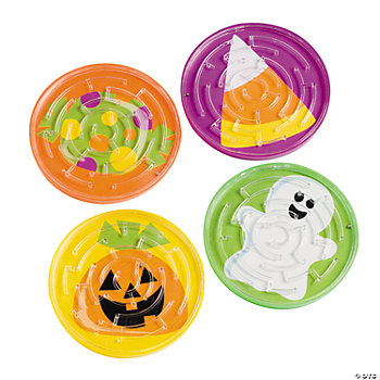 Trick Or Treat Maze Puzzles