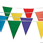 Polyplastic Multicolor Pennant Banners