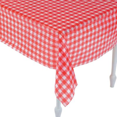 Quickview · Image Of Red U0026 White Checkered Plastic Tablecloth With  Sku:26/1620