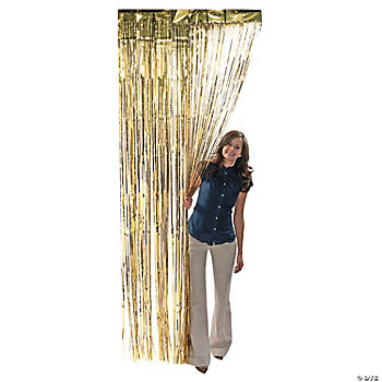 Metallic Gold Fringe Curtains
