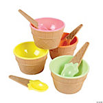 Plastic Ice Cream Dishes