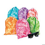 Tie-Dyed Drawstring Bags