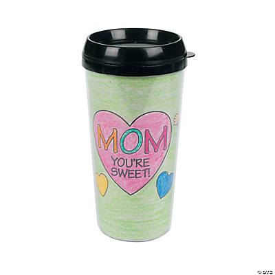 Color Your Own Mom Artist Travel Mug