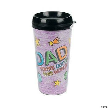 Color Your Own Dad Artist Travel Mug