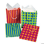 Bright Dots & Stripes Gift Bags