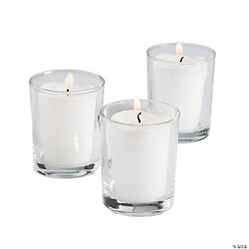 White Rose Votive Candles