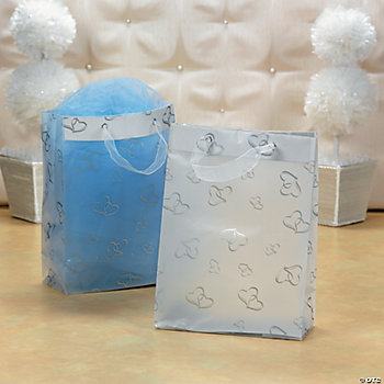 Two Hearts Frosted Gift Bags