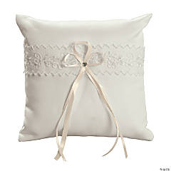 Ivory Lace Wedding Ring Pillow