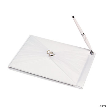Two Hearts Wedding Guest Book & Pen Set