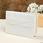 Ivory Lace Wedding Guest Book