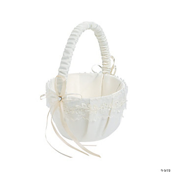 Ivory Lace Wedding Basket