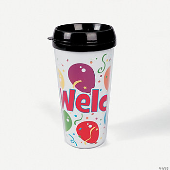 """Welcome"" Travel Mugs"