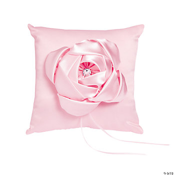 Pink Wedding Ring Pillow